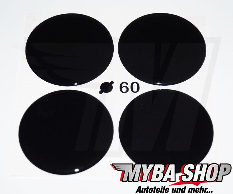 schwarze silikon aufkleber 60mm f r nabenkappen embleme. Black Bedroom Furniture Sets. Home Design Ideas