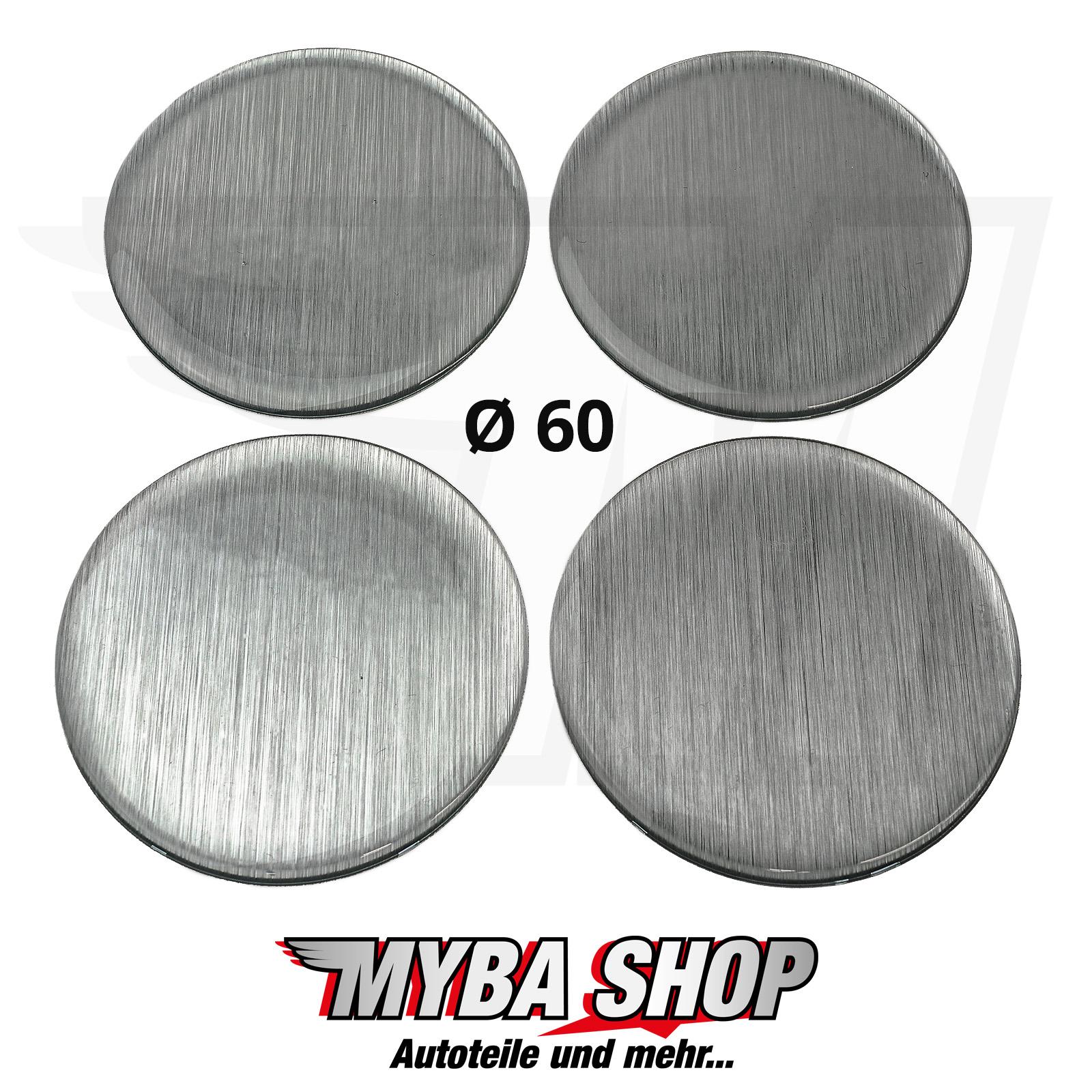 silikon aufkleber 60mm embleme f r nabenkappen sticker geb metall neu x4 ebay. Black Bedroom Furniture Sets. Home Design Ideas