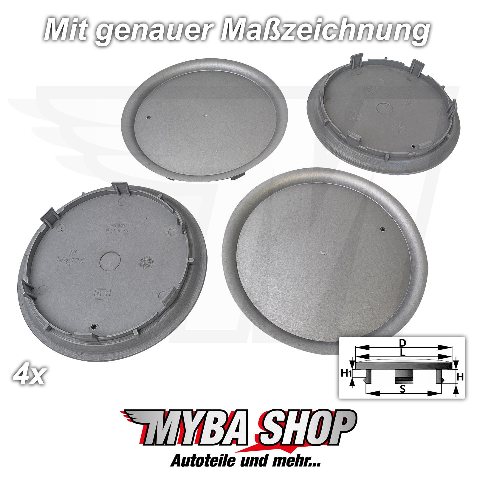 4x tapacubos embellecedores 147 mm//60 mm llantas tapa radnabende para VW NUEVO