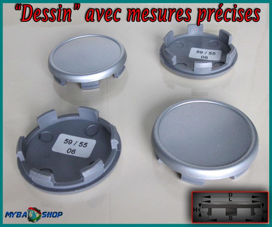 4x centre de roue cache moyeu jante 59 0mm caches moyeux jantes vo t neuf ebay. Black Bedroom Furniture Sets. Home Design Ideas